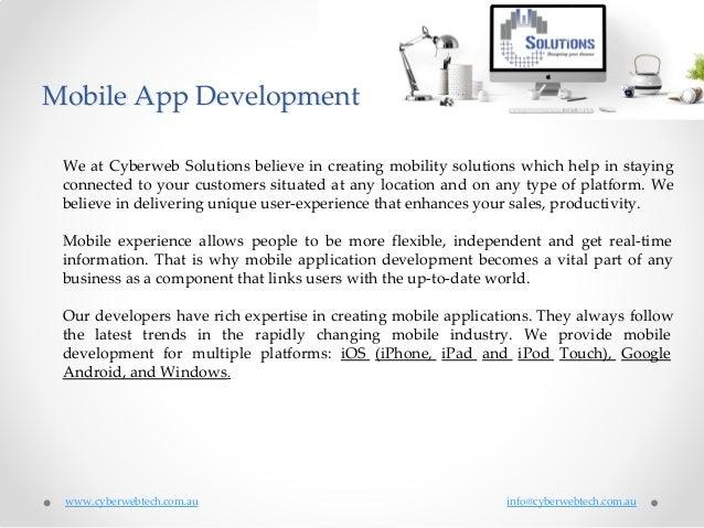 Melbourne Mobile App Development Melbourne Mobile App Developers