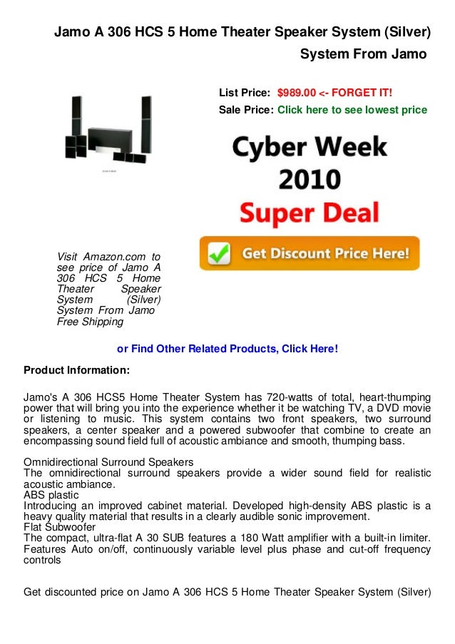 Cyber week deals jamo a 306 hcs 5 home theater speaker