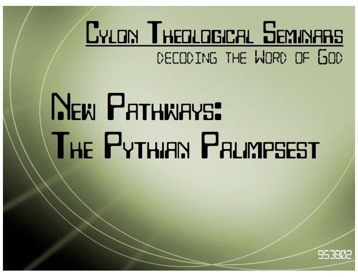BSG fanwork :: The Pythian Palimpsest