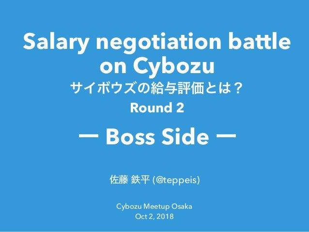 Slide Top: サイボウズの給与交渉戦 - Boss Side -