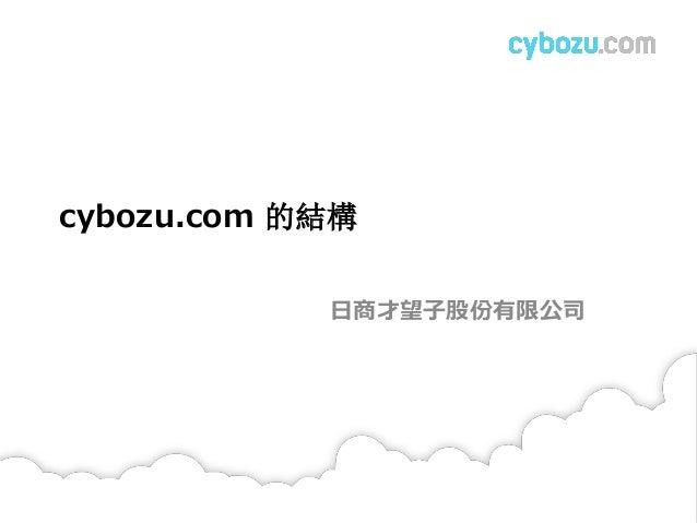cybozu.com 的結構 日商才望子股份有限公司