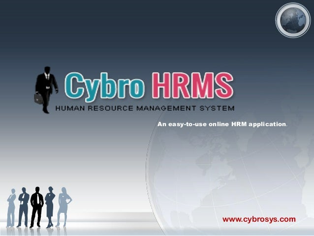 An easy-to-use online HRM application.  www.cybrosys.com