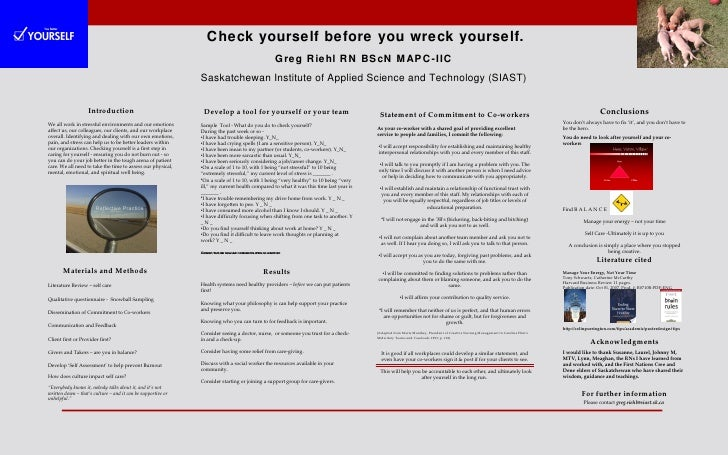 Check yourself before you wreck yourself.                                                                                 ...