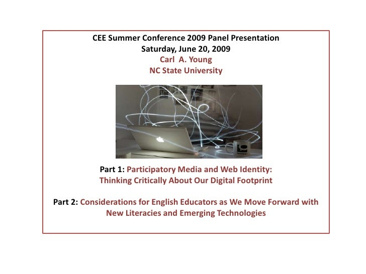 CEE Summer Conference 2009 Panel Presentation<br />Saturday, June 20, 2009<br />Carl  A. Young<br />NC State University<br...