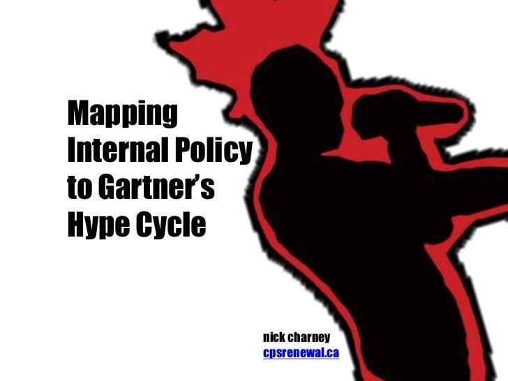 MappingInternal Policyto Gartner'sHype Cycle                  nick charney                  cpsrenewal.ca