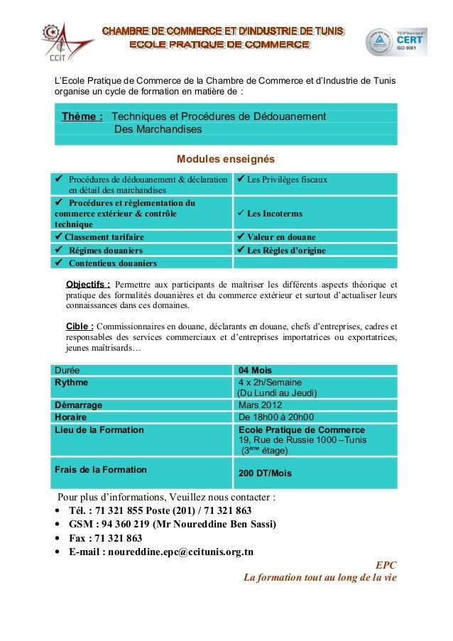 Cycle de formation en formalit s douani res - Formation chambre de commerce ...