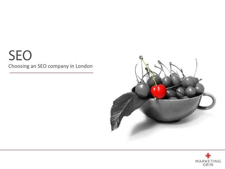 Choosing an SEO company in London