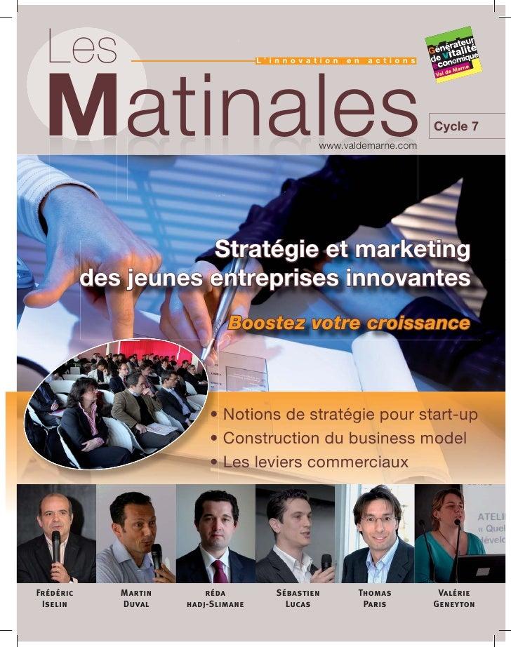 Cycle 7 : Stratégie et marketing des jeunes entreprises innovantes