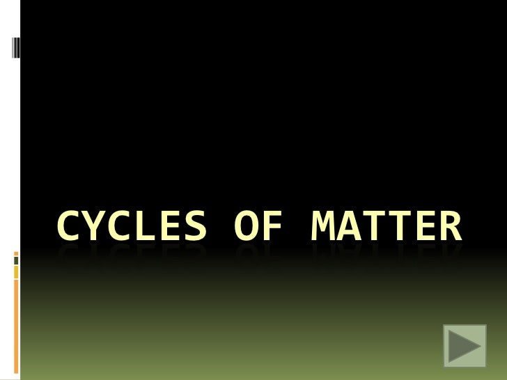 3 3 cycles of matter Biogeochemical cycle explains the way elements, compounds, and forms of matter are passed from one organism to another evaporation the nutrient that is scarce or cycles slowly algal bloom the result of a aquatic ecosystem receiving a large amount of its limiting nutrient.