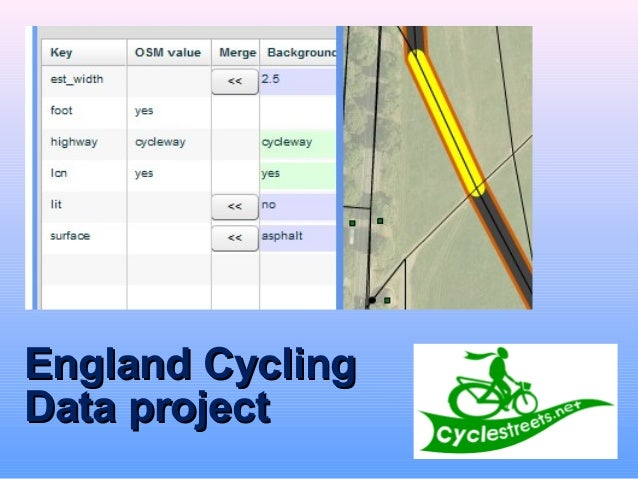 England CyclingEngland Cycling Data projectData project