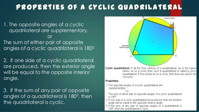 Cyclic quadrilateralspptx 4 area of a cyclic quadrilateral ccuart Choice Image