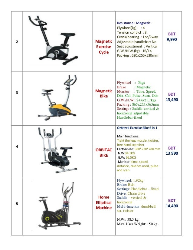 Cycling Exercise Machine Price in Bangladesh