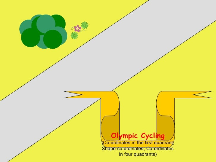 Olympic Cycling (Co-ordinates in the first quadrant; Shape co-ordinates; Co-ordinates In four quadrants)