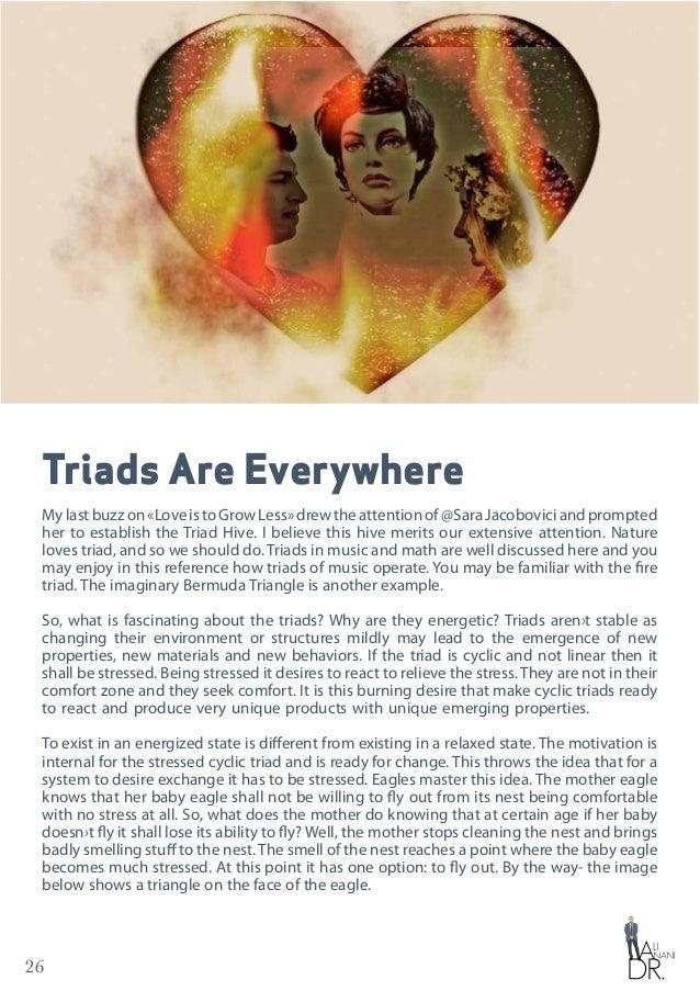 26 Triads Are Everywhere Mylastbuzzon«LoveistoGrowLess»drewtheattentionof@SaraJacoboviciandprompted her to establish the T...