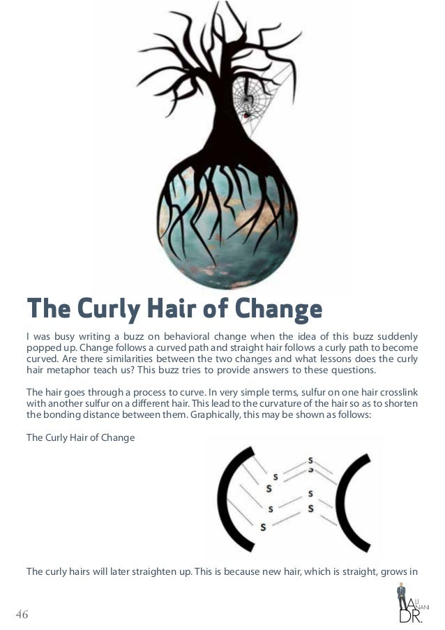 46 The Curly Hair of Change I was busy writing a buzz on behavioral change when the idea of this buzz suddenly popped up. ...