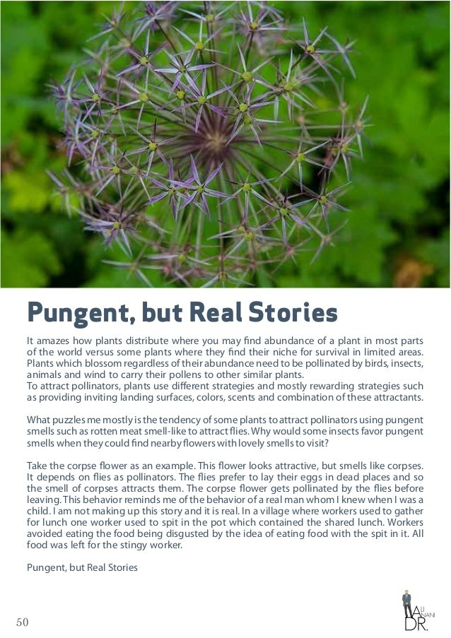 50 Pungent, but Real Stories It amazes how plants distribute where you may find abundance of a plant in most parts of the ...
