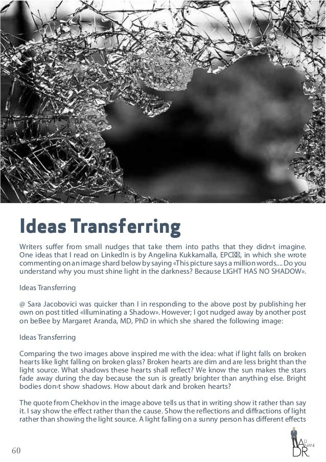 60 Ideas Transferring Writers suffer from small nudges that take them into paths that they didn›t imagine. One ideas that ...