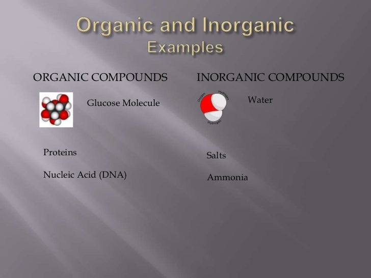 organic and inorganic evidence essay Organic food is food produced by methods that comply with the standards of organic farming standards vary worldwide, but organic farming in general features.