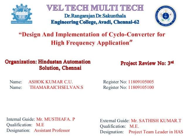 Cyclo converter design for hf applications using h-bridge