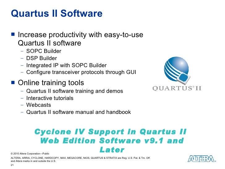 Altera Cyclone IV FPGA Customer Presentation
