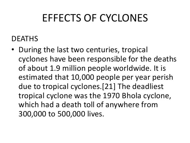 effects of cyclones on people