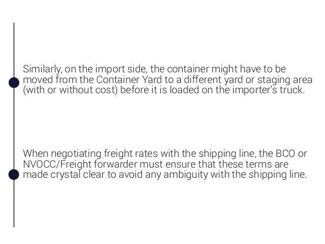 CY/CY Term and its Relation to Ocean Freight Costing