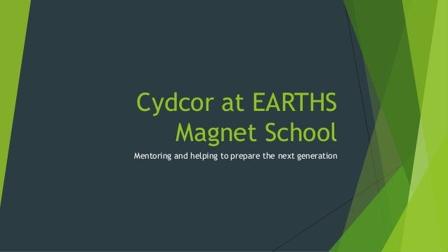 Cydcor at EARTHS Magnet School Mentoring and helping to prepare the next generation