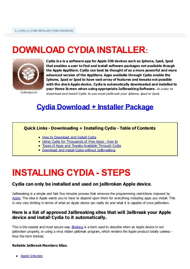 Cydia download-install-cydia