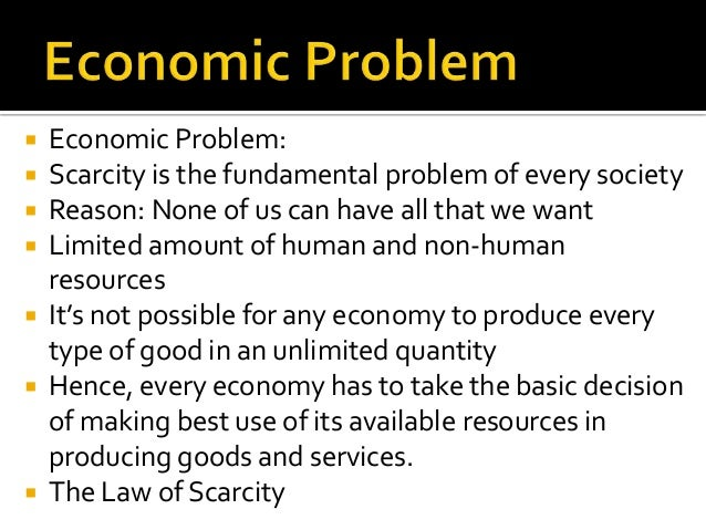 The basic economic problems essay