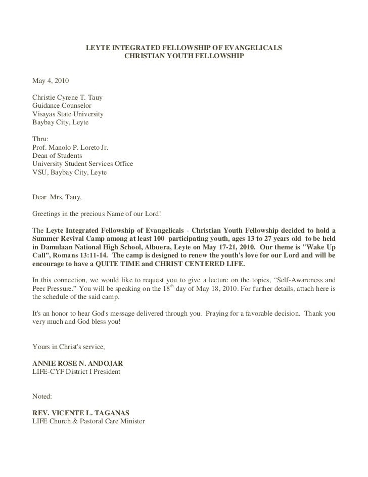 Cyf speaker's invitation letter