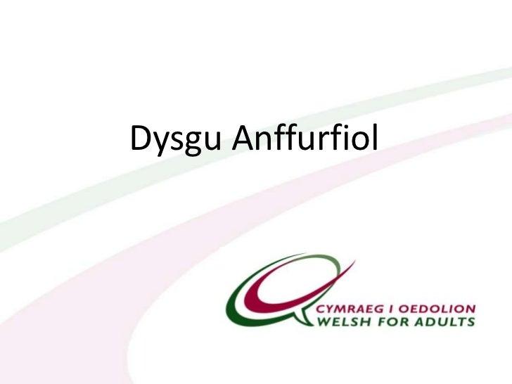 Dysgu Anffurfiol<br />