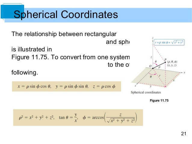 Cylindrical and Spherical Coordinates System