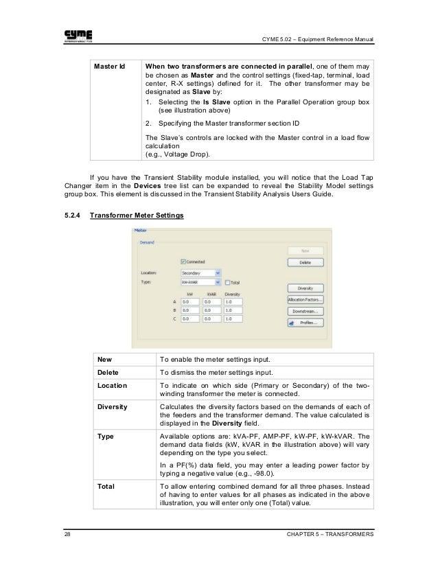 cyme equipment reference manual rh slideshare net Export Program Manual Export Program Manual