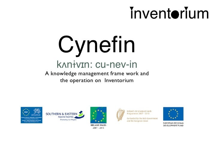inventorium      Cynefin     kʌnɨvɪn: cu-nev-in A knowledge management frame work and      the operation on Inventorium
