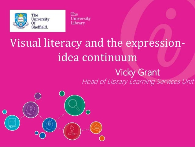 Visual literacy and the expression- idea continuum Vicky Grant Head of Library Learning Services Unit