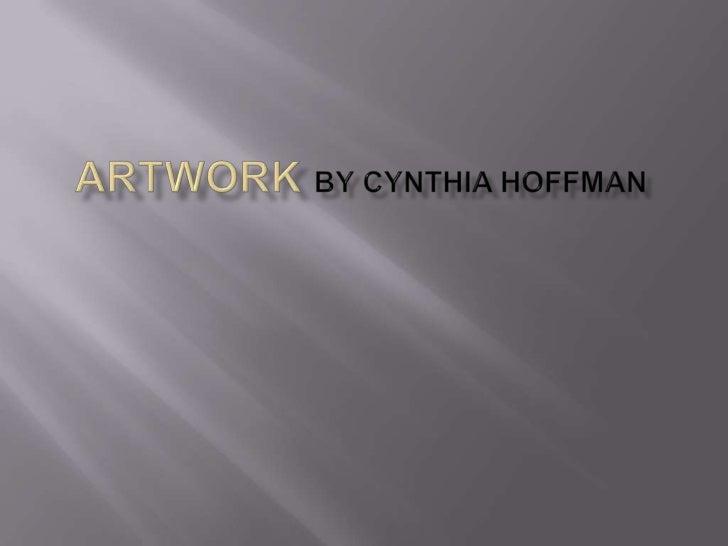 Cynthia adavanced art portfolio