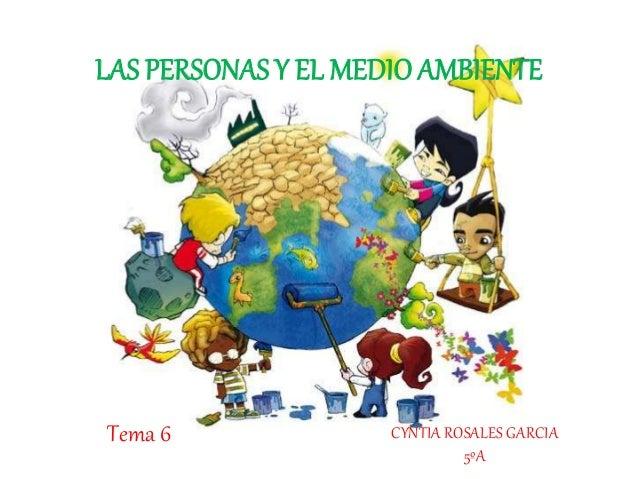 LAS PERSONAS Y EL MEDIOAMBIENTE CYNTIA ROSALES GARCIA 5ºA Tema 6