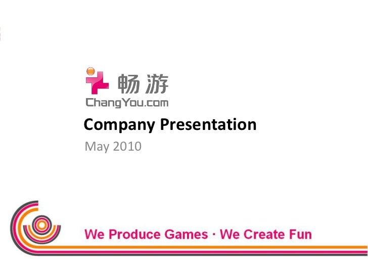 Company Presentation<br />May 2010<br />