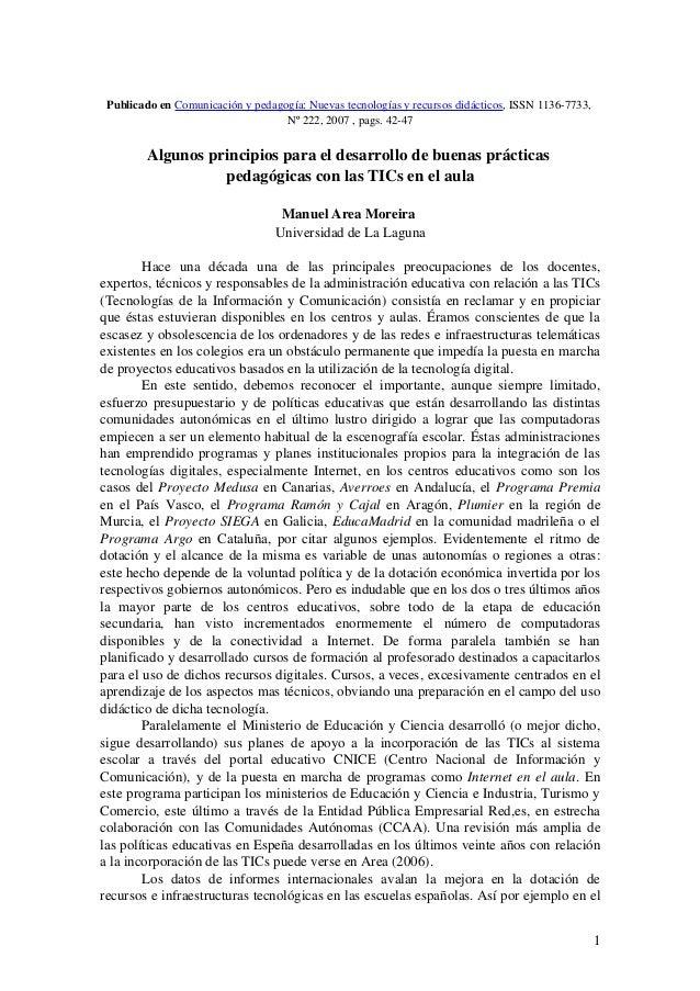 PublicadoenComunicaciónypedagogía:Nuevastecnologíasyrecursosdidácticos,ISSN11367733, Nº222,2007,pags.42...