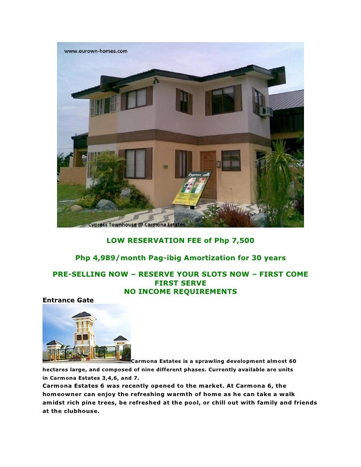 LOW RESERVATION FEE of Php 7,500            Php 4,989/month Pag-ibig Amortization for 30 years     PRE-SELLING NOW – RESER...