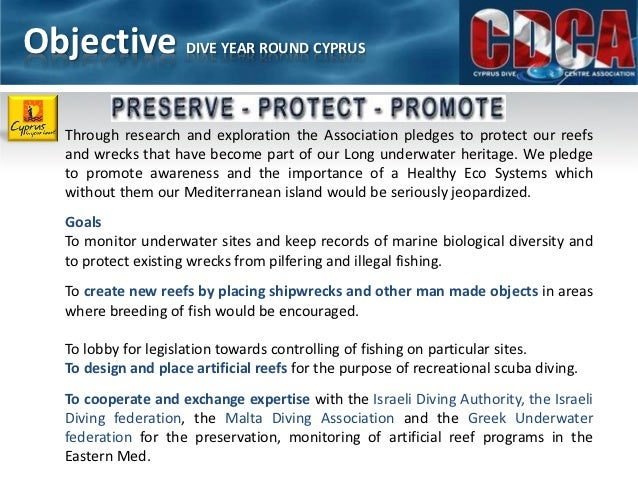 Cyprus dive center association presentation pdf Slide 3