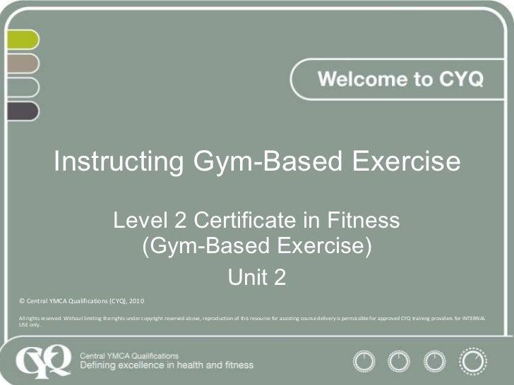 Cyq Pp L2 Instructing Gym Based Exercise 2