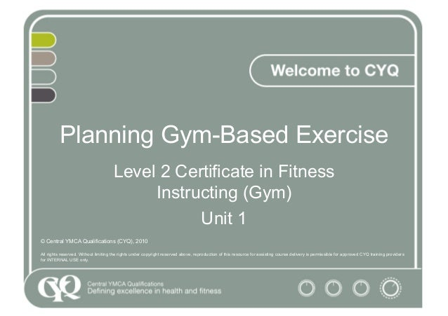 Cyq Pp L2 Planning Gym Based Exercise