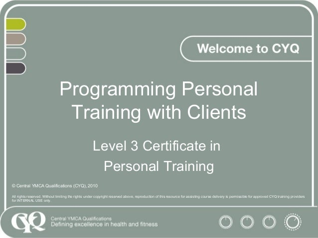 Programming Gym-based sessions L3