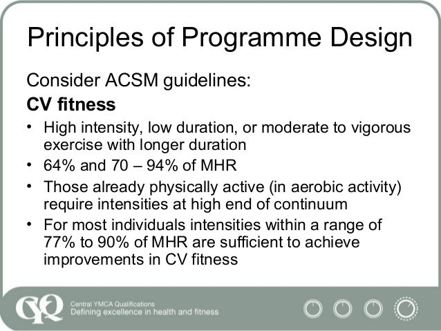 credible source of guidelines for programme design and exercise safety