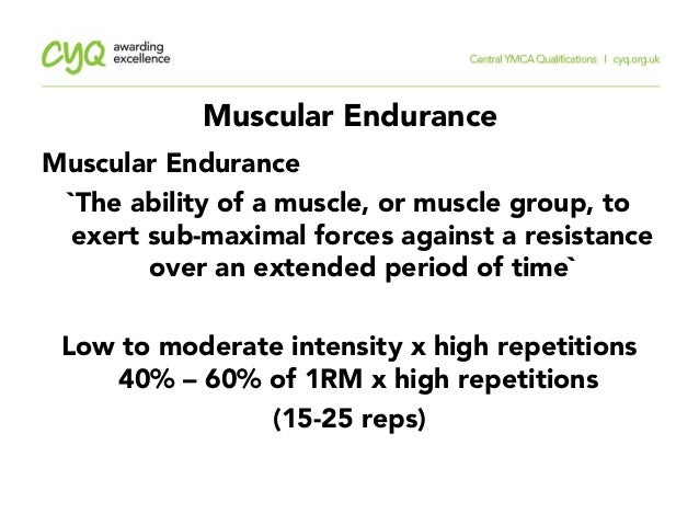 CYQ Level 2 Principles of Exercise