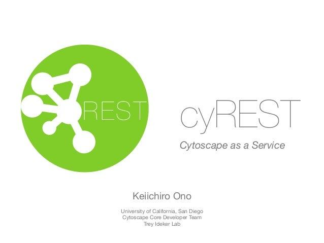 cyREST  Cytoscape as a Service  REST  Keiichiro Ono  University of California, San Diego  Cytoscape Core Developer Team  T...