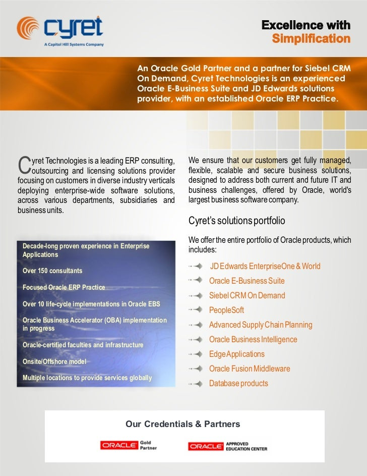 Cyret Corporate Brochure (Four Pages)