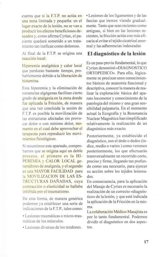 HIPEREMIA LOCAL  (TRAUMÁTICA)  DOLOROSA O  DESAGRADABLE  MOVILIZACiÓN EN  PROFUNDIDAD  MOVILIZACIÓN  TEJIDOS  LESIONADOS  ...