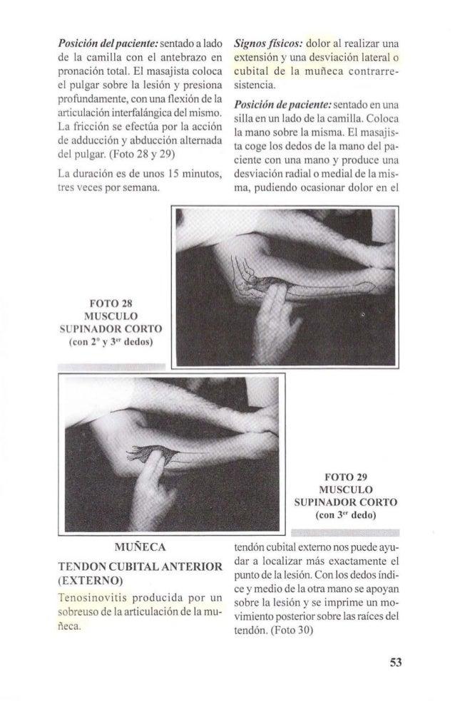 La duración del tratamiento será entre  15 y 20 minutos en días alternos.  Deben evitarse los ejercicios y los  movimient...